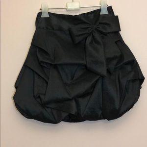 Black ruched skirt